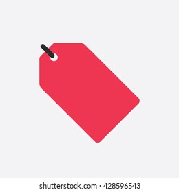 Red Sale Tag Icon Vector