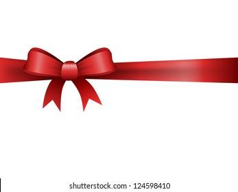 red satin ribbon, eps10