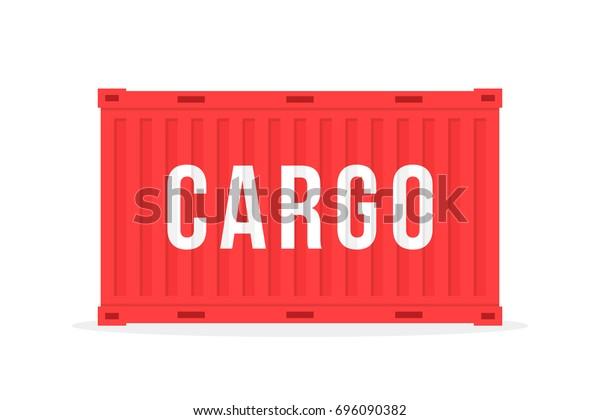 Image vectorielle de stock de conteneur maritime rouge avec ...