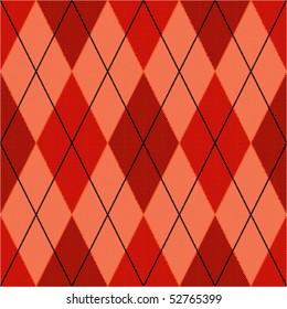 Red seamless argyle pattern