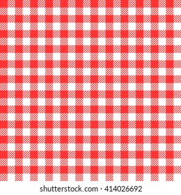 red seamless gingham pattern