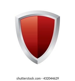 Red Shield Icon Stock Vector Royalty Free 426745900 Shutterstock