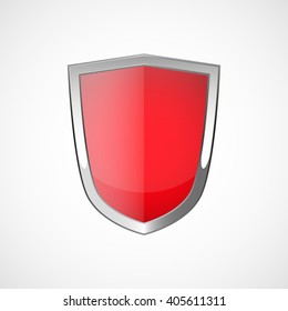 Red Shield Illustration Stock Vector Royalty Free 410841250