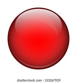 red shiny ball