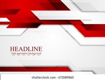 Red shiny hi-tech motion abstract background. Vector corporate design