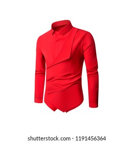 Red shirt isolated on white. Vector illustration.