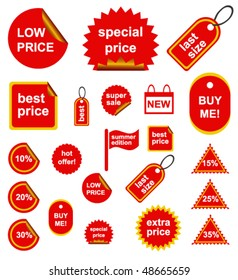 Red Shopping Signs