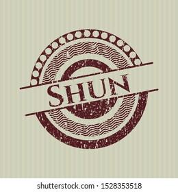 Red Shun distress rubber grunge texture seal