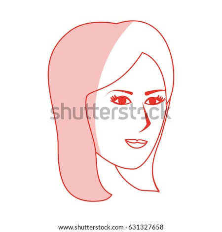 red silhouette shading side profile face stock vector royalty free
