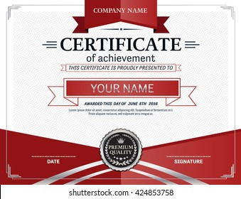 red silver certificate template certificate vector platinum certificate illustration design