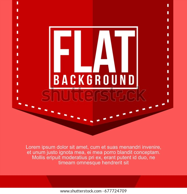 Red Simple Modern Flat Background Banner Stock Vector