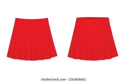 Red skirt. vector illustration