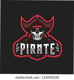 Red Skul Pirate E Sports Logo