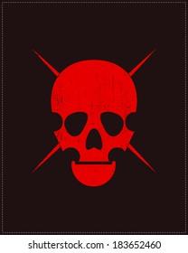Red Skull on grunge background