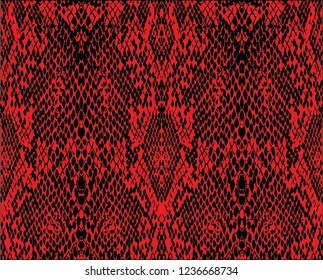 red snake print vector