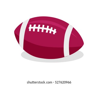 Red soccer ball. American football. Sport team game. American football sign. American football sign. Sportsman. High school competition. Football equipment. Playing sport. Leather pigskin. Vector