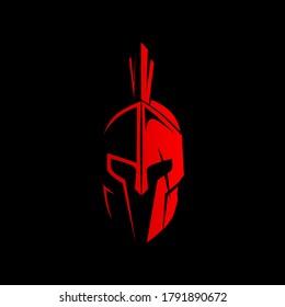 red sparta helmet vector, sparta helemt logo