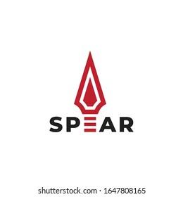 Red Spear icon logo design