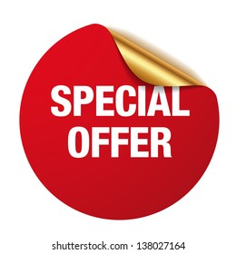 Red special offer sticker
