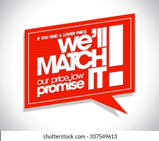 Red speech bubble design - If you find a lower price we will match it.