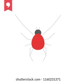Red spider vector icon