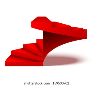 Red spiral stairs