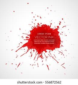 red splatter ink drop effect