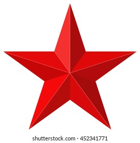 Red star 3D shape
