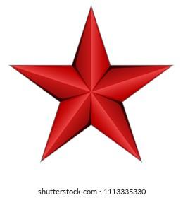 Red Star icon illustration