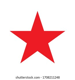 Red star icon. Vector icon.