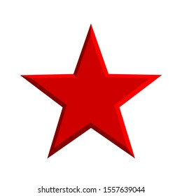 red star isolated on white background. vector illustration