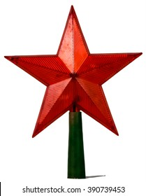 red star isolated on white background
