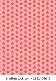 Red Star Pattern Design Vector Art Design