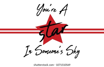 red star tee slogan