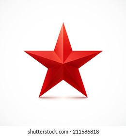 Red star. Vector.