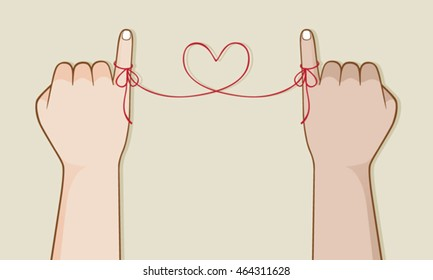 Red string of fate, Asian legend