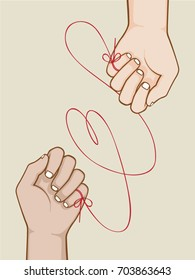 Red String Of Fate Images Stock Photos Vectors Shutterstock