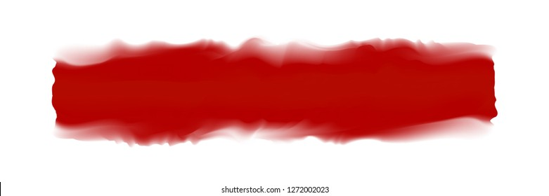 red stripe painted in watercolor on clean white background, red blood watercolor brush strokes, illustration paint brush digital soft concept water color art, colors acrylic water color paint stains