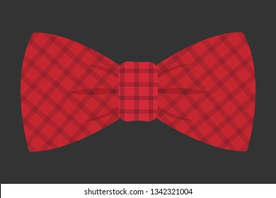 Red striped bowtie icon. Realistic illustration of red striped bowtie vector icon for web design isolated on white background.