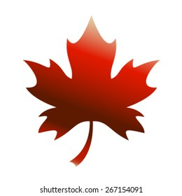Red Stylized Autumn Maple Leaf vector logo