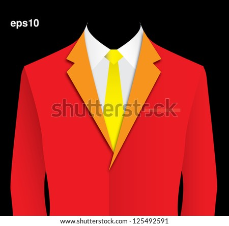 48fadae0b533e Red Suit Vector Stock Vector (Royalty Free) 125492591 - Shutterstock