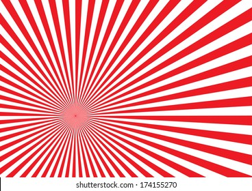Red Sun Burst Effect. Vector
