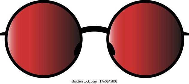 red sunglasses fashion accessory retro eye