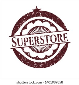 Red Superstore with rubber seal texture