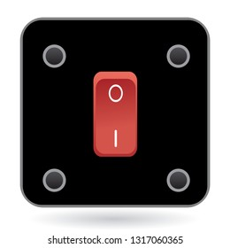 Red switch with black stand