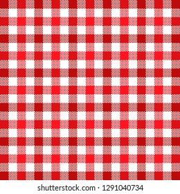 Red tablecloth tartan pattern