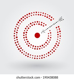 red target with arrow