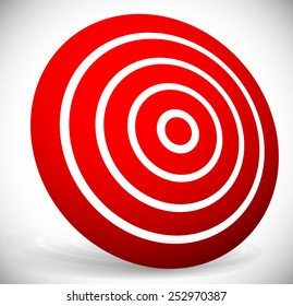 Red target graphics