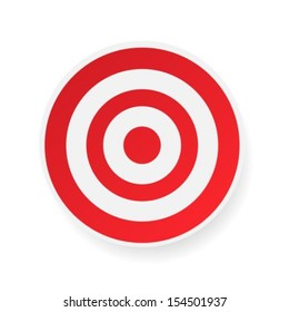 Red target on white background