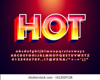 red text effect with detailed glass effect and hot color, thermal hot alphabet, trendy red summer font